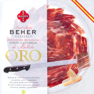 Hand Sliced Jamon Iberico de Bellota BEHER 90gr