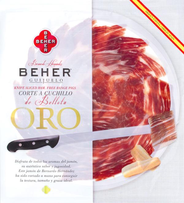Hand Sliced Jamon Iberico de Bellota BEHER 90gr