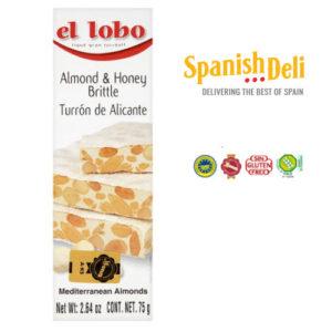Turron de Alicante 75gr – Almond and honey brittle snack bar