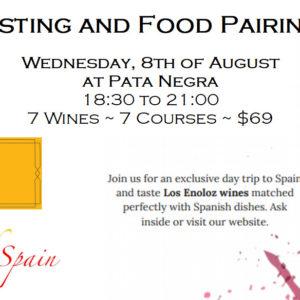 Wine Tasting August 8th $69