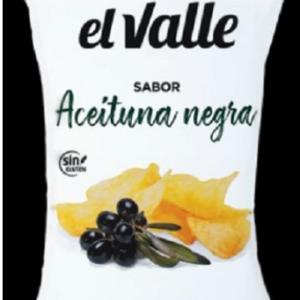 Patatas con sabor de Aceituna negra(Black olive's flavour Chips)