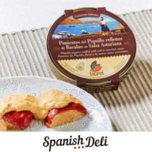 Pimientos del Piquillo Rellenones de Bacaloa en salsa Asturiana – Laurel